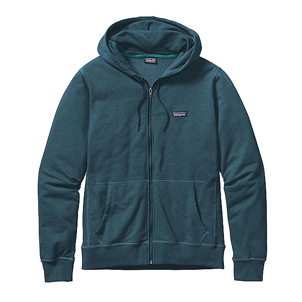 Patagonia Lightweight Full Zip Mens Hoodie, Bay Blue, 600