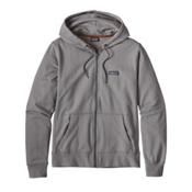 Patagonia Lightweight Full Zip Mens Hoodie, Feather Grey-Forge Grey, medium