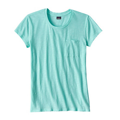 Patagonia Mainstay Womens T-Shirt, Bend Blue, viewer