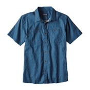 Patagonia Back Step Mens Shirt, Big Sur Blue, medium