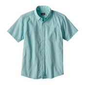 Patagonia Lightweight Bluffside Mens Shirt, Chambray Cuban Blue, medium