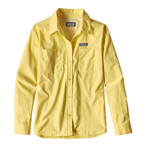 Patagonia Long Sleeved Anchor Bay Womens Shirt, Yoke Yellow, 600