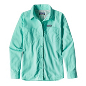 Patagonia Long Sleeved Anchor Bay Womens Shirt, Bend Blue, medium