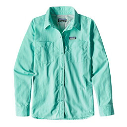 Patagonia Long Sleeved Anchor Bay Womens Shirt, Bend Blue, 256