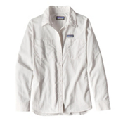 Patagonia Long Sleeved Anchor Bay Womens Shirt, White, medium