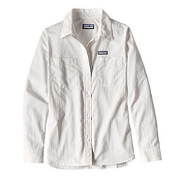 Patagonia Long Sleeved Anchor Bay Womens Shirt, White, 256