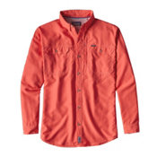 Patagonia Sol Patrol II Long Sleeve Mens Shirt, Carve Coral, medium