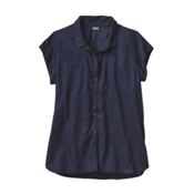Patagonia Lightweight A/C Womens Shirt, Navy Blue, medium