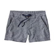 Patagonia Island Hemp Womens Shorts, Navy Blue, medium