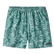 Patagonia Baggies 5in Mens Hybrid Shorts, Sketchy Fish-Gem Green, medium