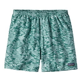 Patagonia Baggies 5in Mens Hybrid Shorts, Sketchy Fish-Gem Green, 256