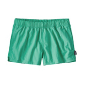 Patagonia Barely Baggies Womens Hybrid Shorts, Galah Green, medium