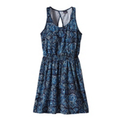 Patagonia West Ashley Dress, Raindrop-Navy Blue, medium