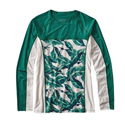Patagonia Micro Swell Womens Rash Guard, Monsoon Kelp-White, 256