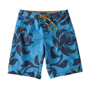 Patagonia Wavefarer Mens Board Shorts, Exotic Floral-Radar Blue, medium
