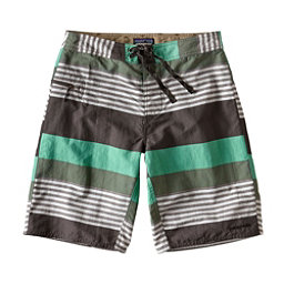 Patagonia Wavefarer Mens Board Shorts, Fitz Stripe-Galah Green, 256