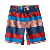 Patagonia Wavefarer Mens Board Shorts, Fitz Stripe-Fire, medium