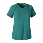 Patagonia Nine Trails Womens T-Shirt, True Teal, medium