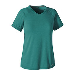 Patagonia Nine Trails Womens T-Shirt, True Teal, 256