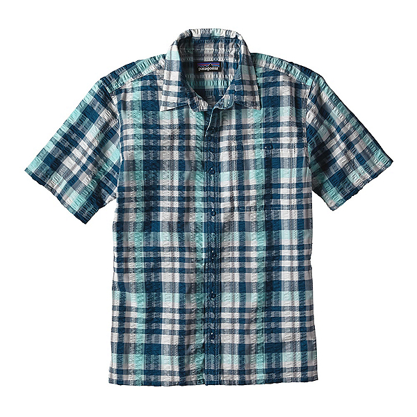 Patagonia Puckerware Mens Shirt, Big Sur Blue, 600