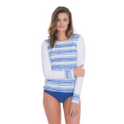 Cabana Life Moroccan Tile Shoulder Zip Womens Rash Guard, , medium