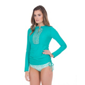 Cabana Life Sardinia Sands Embroidered Womens Rash Guard, , medium