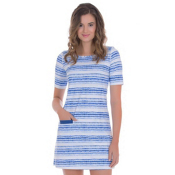 Cabana Life Navy Batik Stripe Dress, , medium
