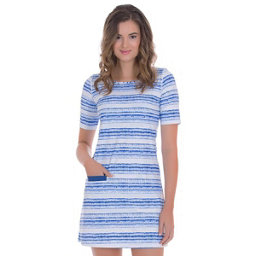 Cabana Life Navy Batik Stripe Dress, , 256