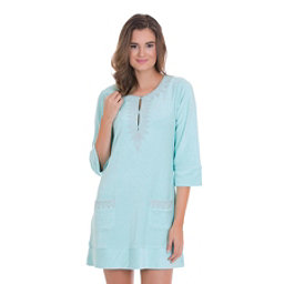 Cabana Life Embroidered Terry Tunic Bathing Suit Cover Up, , 256