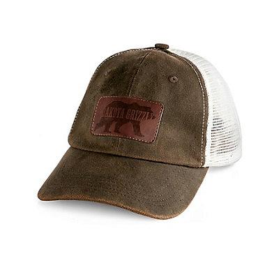 Dakota Grizzly Trucker Hat, Tobacco, viewer