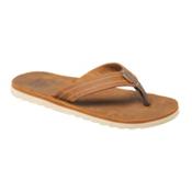 Reef Voyage LE Mens Flip Flops, Bronze-Brown, medium