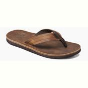 Reef Voyage LE Mens Flip Flops, Dark Brown, medium
