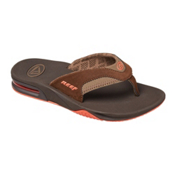 Reef Fanning Lux Womens Flip Flops, Brown, medium
