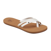 Reef Ocontrare LX Womens Flip Flops, White, medium