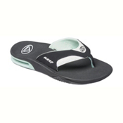 Reef Fanning Womens Flip Flops, Black-Mint, medium
