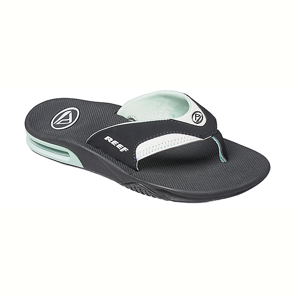 Reef Fanning Womens Flip Flops, Black-Mint, 600