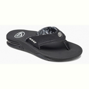Reef Fanning Womens Flip Flops, Black, medium