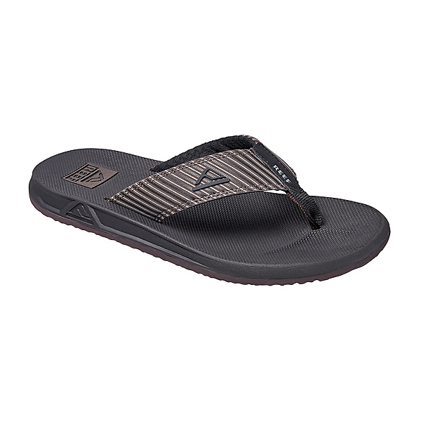 Reef Phantom Prints Mens Flip Flops, Brown Pinstripe, 600