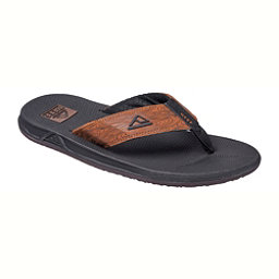 Reef Phantom Prints Mens Flip Flops, Black-Wood, 256