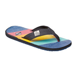 Reef HT Prints Mens Flip Flops, 70s Blue, 256