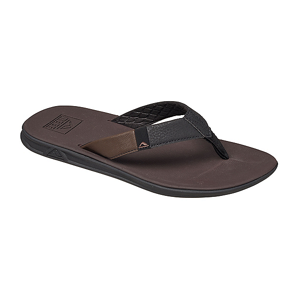 Reef Slammed Rover Mens Flip Flops, Black-Brown, 600