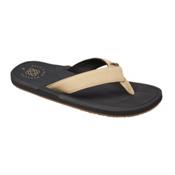 Reef Machado Day Mens Flip Flops, Black-Tan, medium