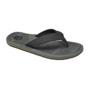 Reef Machado Day Prints Mens Flip Flops, Grey Lines, medium