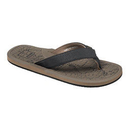 Reef Machado Day Prints Mens Flip Flops, Tan Map, 256