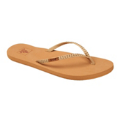 Reef Slim Ginger Stud Womens Flip Flops, Tan, medium