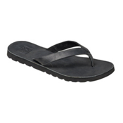 Reef Voyage LE Womens Flip Flops, Black, medium