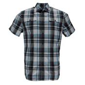 Spyder Crucial Mens Shirt, French Blue Plaid, medium