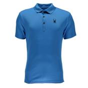 Spyder Alps Tech Polo Mens Shirt, French Blue, medium