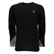 Spyder Alps L/S Tech Mens Shirt, Black-Cirrus Halftone Print, medium
