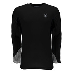 Spyder Alps L/S Tech Mens Shirt, Black-Cirrus Halftone Print, 256